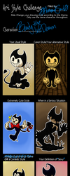 Art Style Challenge - Featuring: Bendy! by 0ArmoredSoul0