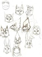 Faces of Star Fox Sketch by Suicidal-Monki