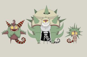 Quilladin, Chesnaught y Chespin