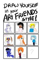Draw Yourself Like Your Friends Meme by XGalacticxStudios18X