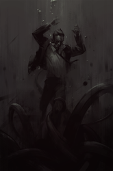 drowning man sketch by Nonparanoid