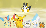 Pikachu Clones by AdvanceArcy