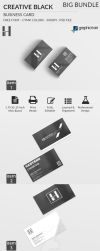 Creative Black and White Business Card BIG Bundle by Hasyemi12