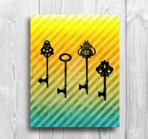 Multiple Skeleton Keys Pattern Printable by Thelildesigns