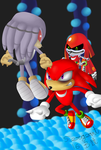 Contest Entry: Knuckles vs Metal and Mecha by sergeant16bit