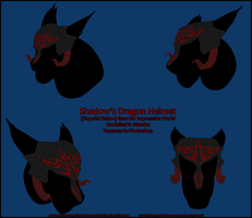 Shadow's Dragon Helmet IW Item by ShadoWolfozo