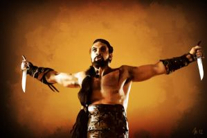 Portrait of Khal Drogo from Game of Thrones by s3lwyn