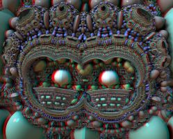 Beaded Mask Stereo by DDDPhoto