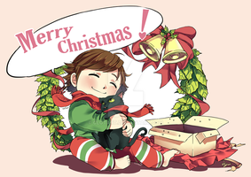 Merry Christmas from Hiccup and Toothless by clgtart