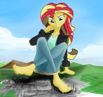Giantess Draw - Sunset Shimmer by Colonel-Gabbo