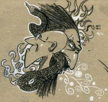 Charcoal and BALDNESS by Qyzex