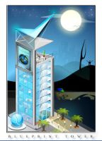 blueprint tower by blue2x