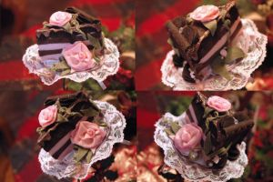 Chocolate And Roses Cake Slice Hat by NoFlutter