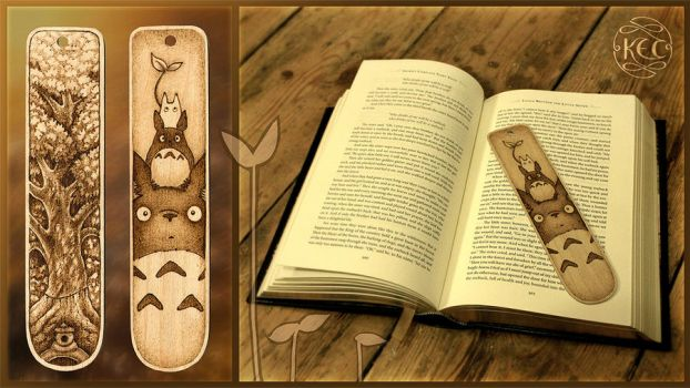 Totoro Bookmark by KettleQuill