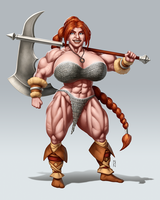 Zira the Barbarian [Commission] by JanRockitnik