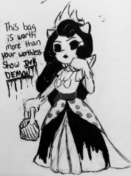 Inktober day 22: expensive by BendyantheSinMachine