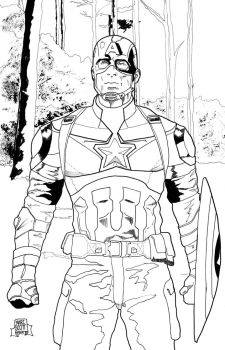 Cap Age of Ultron inks by 7daywalk