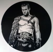 Spartacus on vinyl record by vantidus