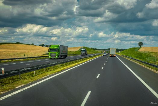 north of Warsaw - on the way in Poland by Rikitza