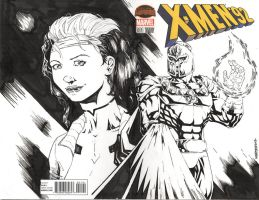 XMEN 92 sketch cover by drawhard