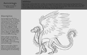 Aerowings Reference Sheet by Shallowpond