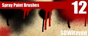 Photoshop Spray Paint Brushes by sdwhaven
