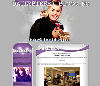 Justin Bieber Layout by Cicciz