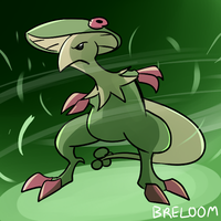 Pokedex Month DAY 10 -BRELOOM- by AndrewMartinD