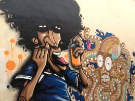 CORE mural at Tribe Coffee Roasting  - Rayzer x Lo by rayyzer