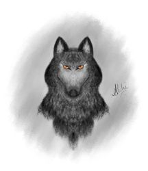 Wolf Character Drawing by firefighters