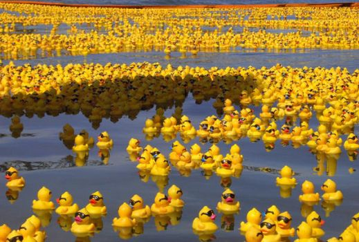 Rubber Duck Sea by whispering-hills