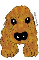 doggy caricature by raccoon-eyes