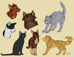 assorted cats by jack-frost7