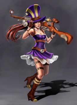 League of Legends: Caitlyn by PencilWarrior
