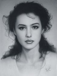 Drawing Monica Bellucci by Drawing-Portraits