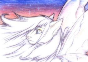 The White Feline Princess - ACEO Trade by PoonieFox