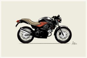 Honda moto by XnBook