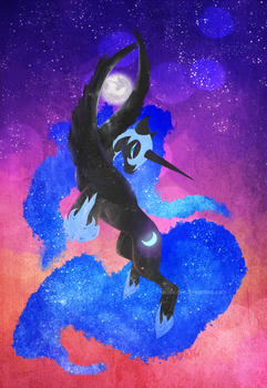 Nightmare Moon by acidic-fire