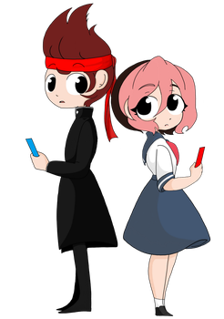 YandereSim: Pippi and Ryuto by TheRejectedCulb