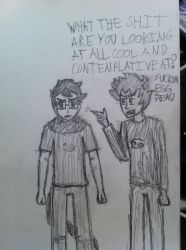 John n Karkat by Vash-Fish