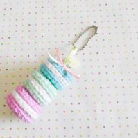 Mini Macaroon Keyghain (Free pattern) by milliemouse579
