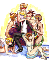 Zeggy's Gay Harem by Tacotits