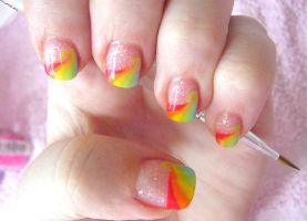 rainbow dash nail art by neko-crafts