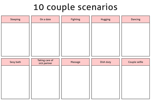 Meme - 10 couple scenarios by Cammerel