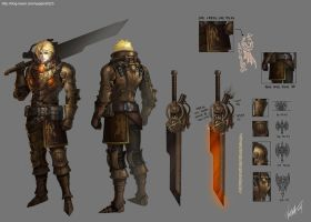 steampunk fantasy character design -2 by GoddessMechanic