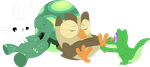 Keeping the bird and reptile relaxed by Porygon2z