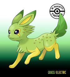 Dual-Type Eeveelutions - Citreon (Grass/Electric) by InProgressPokemon