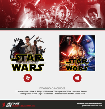Star Wars: The Force Awakens - Movie-Icon + Media by Crussong