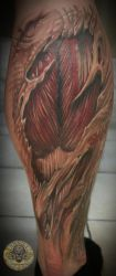 muscle tissue calf healed by 2Face-Tattoo