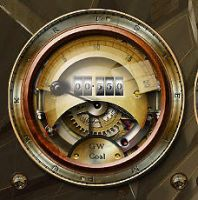Steampunk Coal-Power Gauge shows real consumption! by yereverluvinuncleber